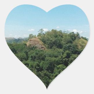 Naturaleza Pegatina En Forma De Corazón