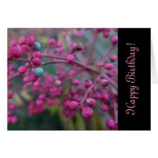 Naturaleza rosada tarjeta de felicitación