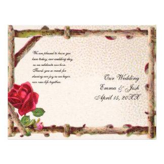 Naturaleza rústica del boda del vintage antiguo folleto 21,6 x 28 cm