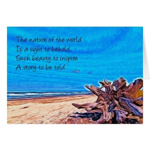 Naturaleza y poema tarjetas