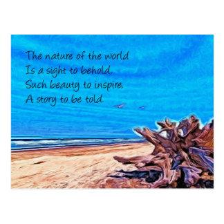 Naturaleza y poema tarjeta postal