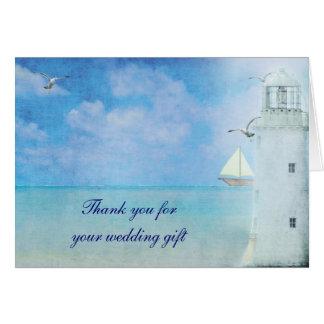 Náutico gracias por regalo de boda tarjeta pequeña