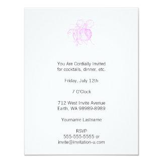 Nautilus (estilo de la prensa de copiar) invitación 10,8 x 13,9 cm