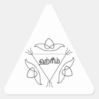 Navagraha-Kolam_Sunday Pegatina Triangular