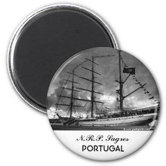 Nave alta portuguesa NRP Sagres Imán Redondo 5 Cm