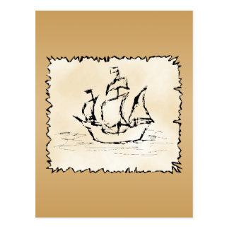 Nave de pirata postales