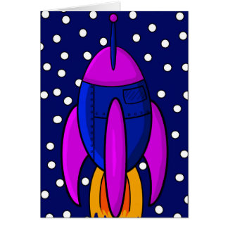 Nave de Rocket Tarjeta De Felicitación