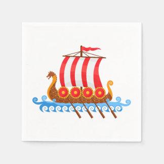 Nave de Viking del dibujo animado Servilleta Desechable