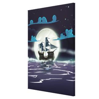 Nave del fantasma lona envuelta para galerias