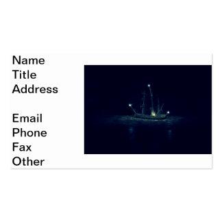 Nave del fantasma tarjetas de visita
