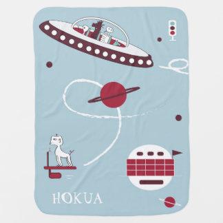 Nave espacial y manta del bebé de los extranjeros