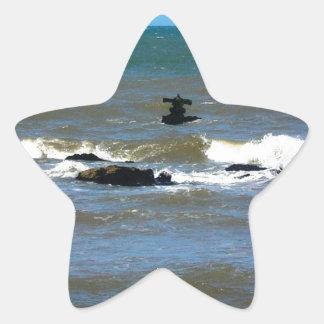 Nave hundida de Uruguay Pegatina En Forma De Estrella