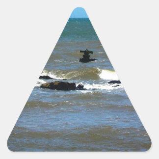 Nave hundida de Uruguay Pegatina Triangular