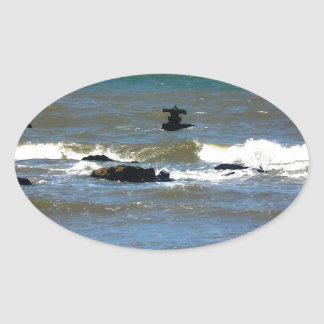 Nave hundida de Uruguay Pegatina Ovalada