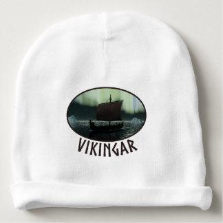 Nave y aurora boreal de Viking Gorrito Para Bebe