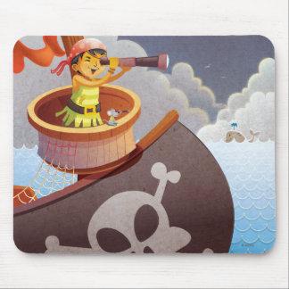 Navegación con los piratas alfombrilla de ratón