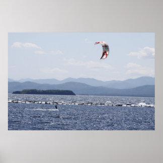 Navegación de Champlain Para del lago Posters