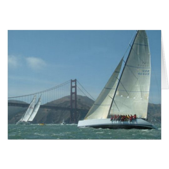 Navegación de la bahía tarjeta de felicitación