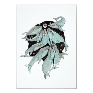 Navegación de la ballena invitación 12,7 x 17,8 cm