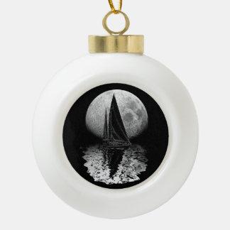 Navegación de medianoche adorno de cerámica en forma de bola