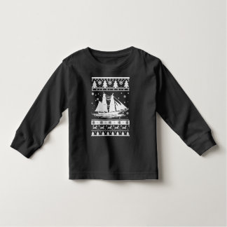 Navegación de navidad feo camiseta de bebé