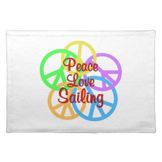 Navegación del amor de la paz salvamanteles
