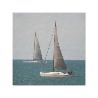 Navegación del azul de océano lienzo