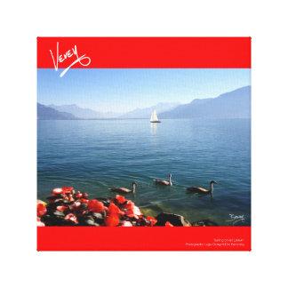 Navegación en la laca Léman Lienzo