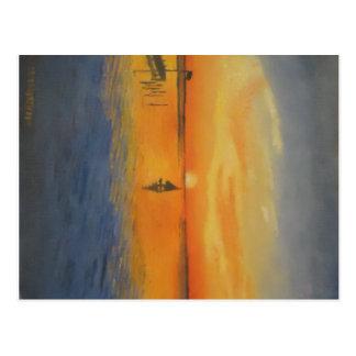 Navegación en una puesta del sol de LBI Postal