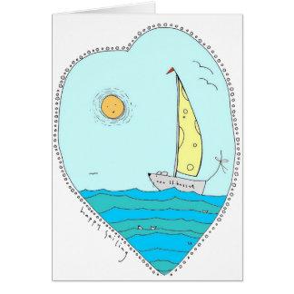 Navegación feliz tarjeta
