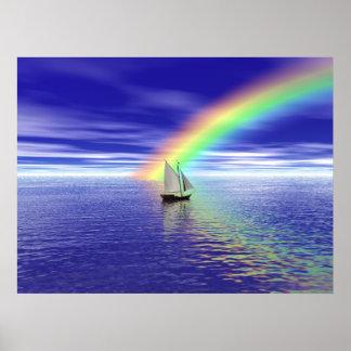 Navegación hacia paraíso póster