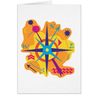 Navegación - naranja tarjeta de felicitación
