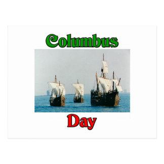 Naves del día de Colón Postal