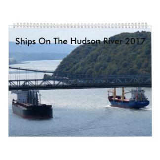 Naves en el río Hudson 2017 Calendarios