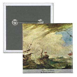 Naves en tormenta del mar de Guardi Francisco Pin