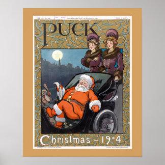 Navidad 1904 de la portada de revista del duende póster