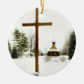 Navidad 1 adorno navideño redondo de cerámica
