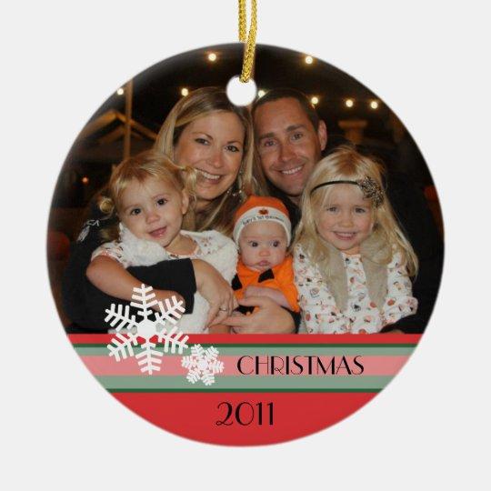 Navidad 2011 adorno navideño redondo de cerámica