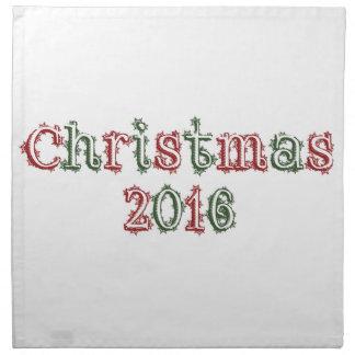 Navidad 2016 servilleta de tela