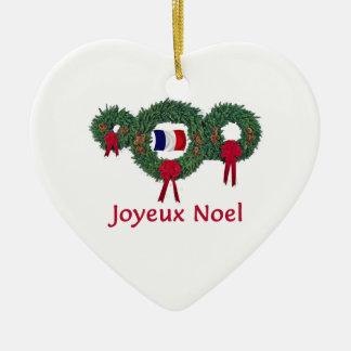 Navidad 2 de Francia Adorno De Cerámica En Forma De Corazón
