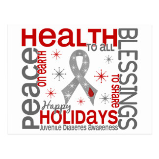 Navidad 4 copos de nieve de la diabetes juvenil postal