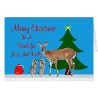Navidad a la tarjeta de la tía y del tío felicitac