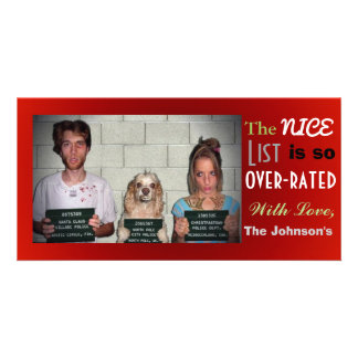 Navidad adaptable divertido de la foto de familia tarjetas personales con fotos