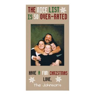 Navidad adaptable divertido tarjeta fotográfica personalizada