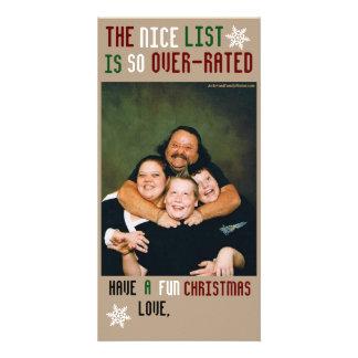Navidad adaptable divertido tarjetas fotograficas personalizadas