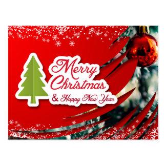 Navidad agradable y tarjeta del Año Nuevo