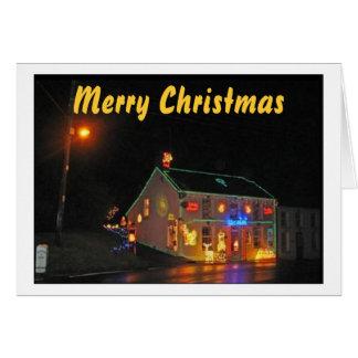 Navidad (Al aire libre-decoraciones) Tarjeta De Felicitación