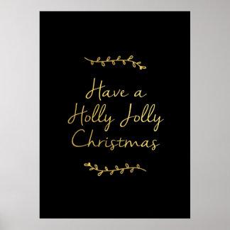 Navidad alegre del acebo impresiones