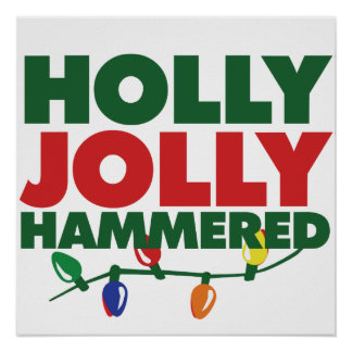 Navidad alegre del acebo póster