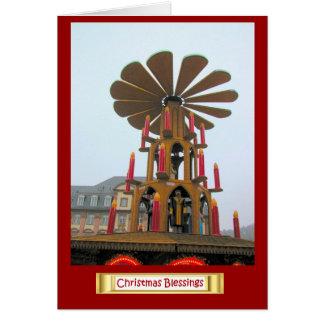 Navidad alemán, decoraciones gigantes tarjeta de felicitación